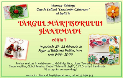 Targul Martisorului handmade la Odobesti