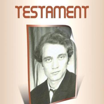 """Prof. Neculai Florea lansează volumul de versuri """"Testament"""""""