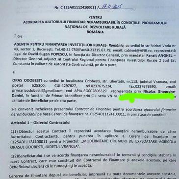 Primarul Nicolaș a obținut 1 milion de euro pentru modernizarea drumurilor