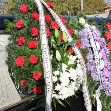 Veteranul Constantin Sima a fost înmormântat