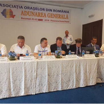 Primarul din Odobești, reales vicepreşedinte al Asociației Orașelor din România