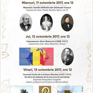 Zilelor Culturii Odobeştene – 11-13 octombrie