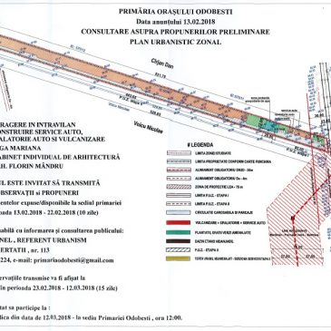 Consultare public asupra propunerilor preliminare PUZ – Iuga Mariana