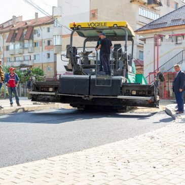 Lucrările de modernizare a străzii Mihai Eminescu au fost finalizate