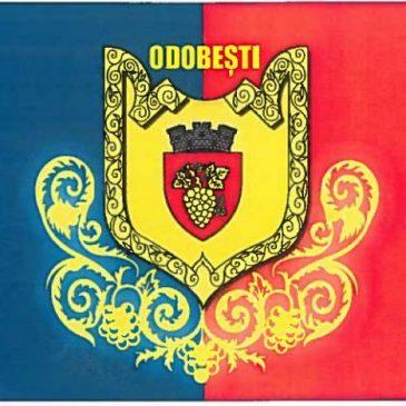 Orașul Odobești are stemă și steag proprii
